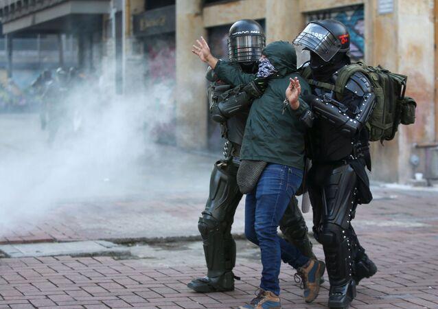 Protestas en Bogotá, Colombia