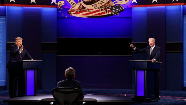 El presidente de EEUU, Donald Trump, y Joe Biden, candidato presidencial - Sputnik Mundo