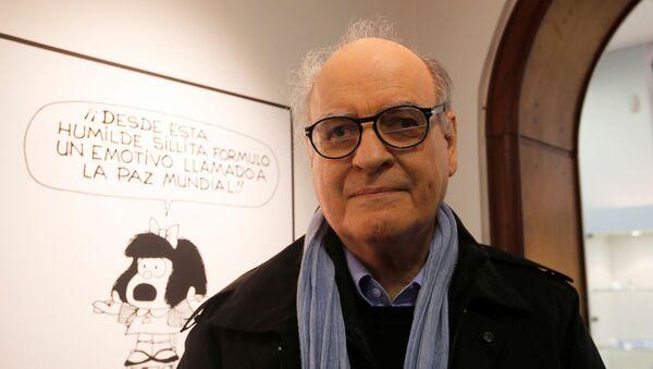 El historietista argentino Joaquín Lavado Tejón, conocido como Quino, creador de Mafalda - Sputnik Mundo