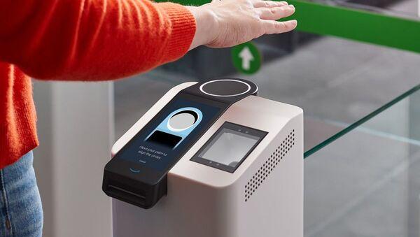 Sistema biométrico Amazon One - Sputnik Mundo