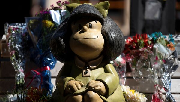 Estatua de Mafalda - Sputnik Mundo