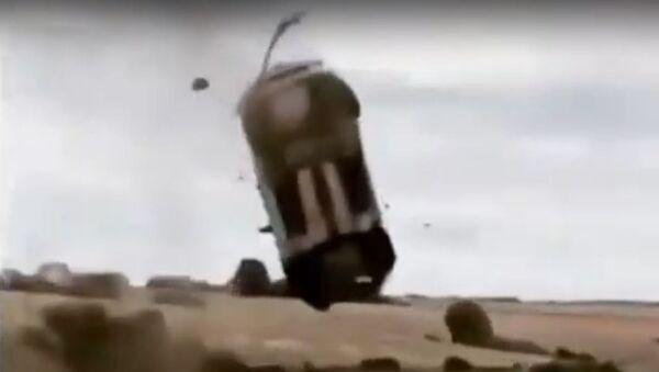 El accidente de un Ford Fiesta durante el Rally Coeur de France - Sputnik Mundo