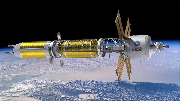 Ilustración de un sistema de propulsión térmica nuclear (NTP) - Sputnik Mundo
