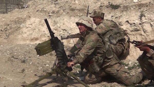 Militares de Azerbaiyán en Nagorno Karabaj - Sputnik Mundo