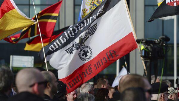 Una protesta del movimiento de derecha en Berlin - Sputnik Mundo