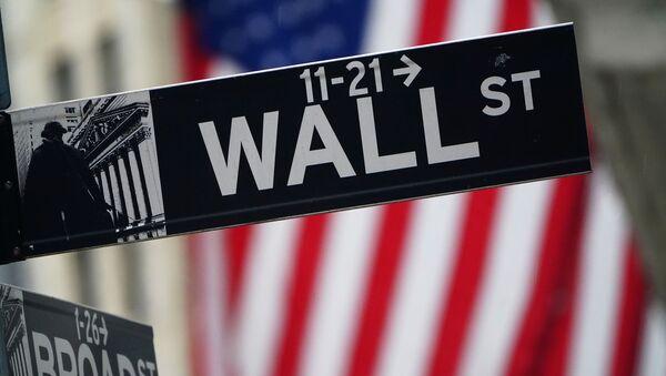 Señal de tráfico en Wall Street - Sputnik Mundo