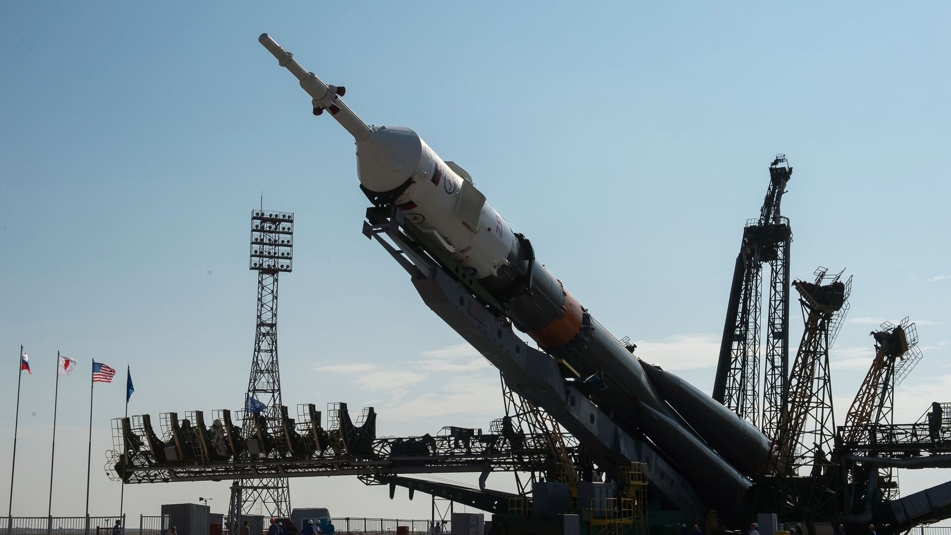 Un cohete portador Soyuz-FG en el cosmódromo de Baikonur (archivo) - Sputnik Mundo, 1920, 04.10.2020