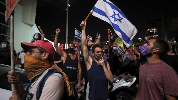La manifestación antigubernamental en Israel - Sputnik Mundo