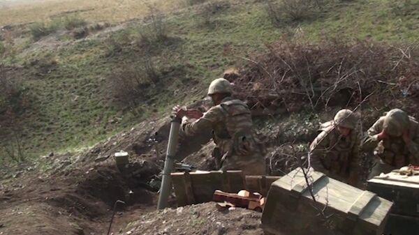 Militares azeríes en la zona del conflicto en Nagorno Karabaj - Sputnik Mundo