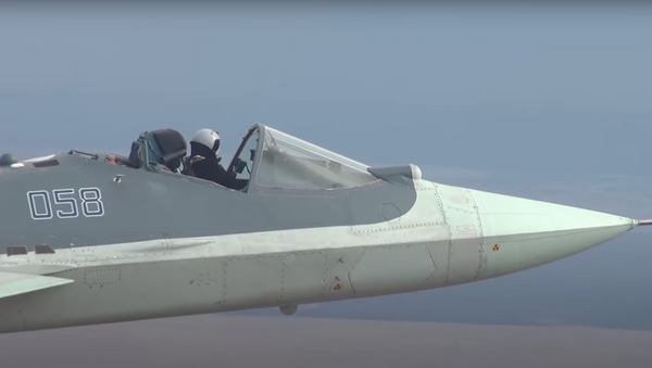 Caza Su-57 'descapotable' - Sputnik Mundo