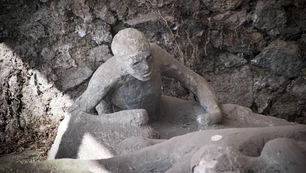 Una de las víctimas de la erupción del Vesubio, foto de archivo - Sputnik Mundo