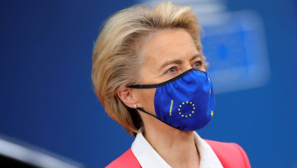 Ursula von der Leyen, presidenta de la Comisión Europea - Sputnik Mundo