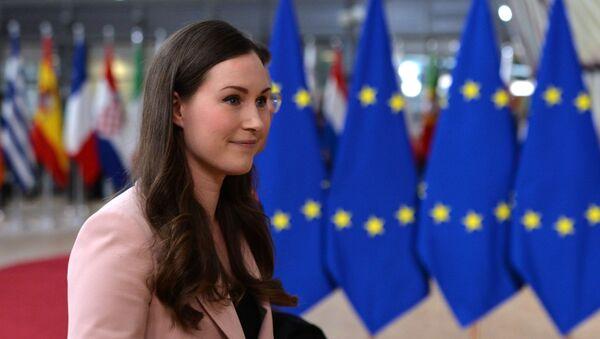 Sanna Marin, primera ministra finlandesa - Sputnik Mundo