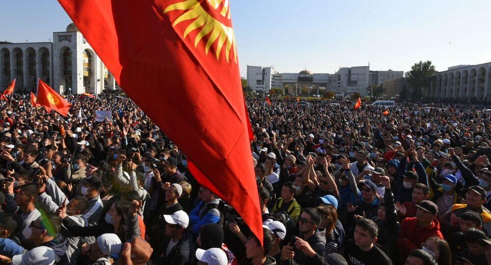 Protestas en la capital kirguisa Biskek