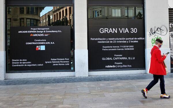 Local en rehabilitación de la Gran Vía de Madrid (España) - Sputnik Mundo