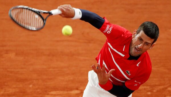 El tenista serbio Novak Djokovic - Sputnik Mundo