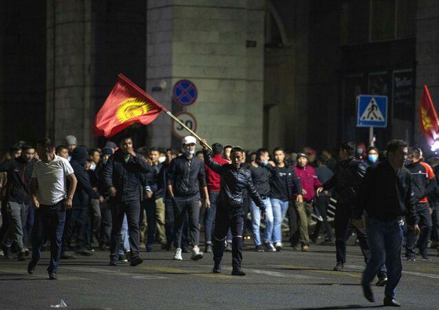 Protestas en Biskek