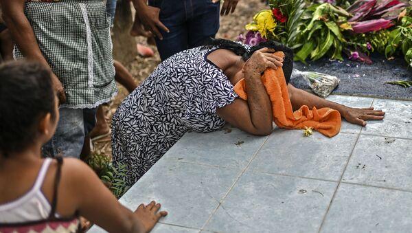 Un funeral en México en tiempos de la pandemia de COVID-19 - Sputnik Mundo