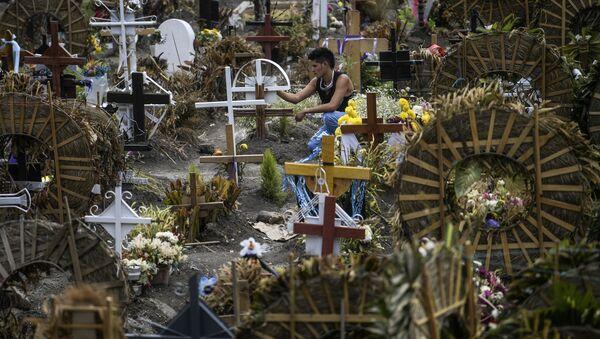 Un cementerio en México - Sputnik Mundo