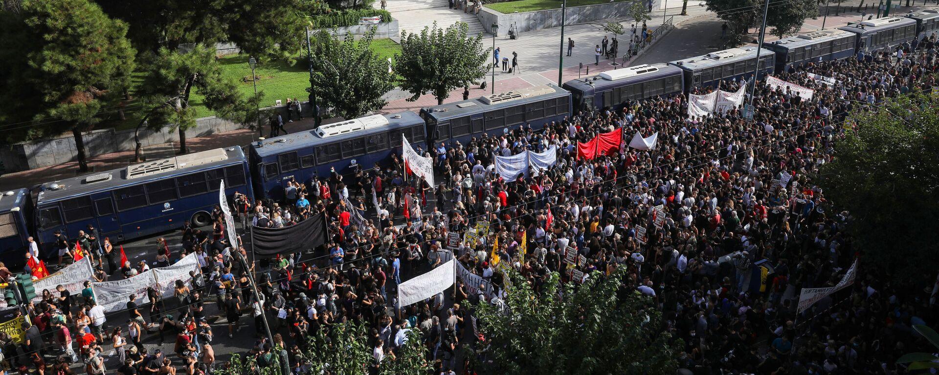 Protestas en Atenas, Grecia - Sputnik Mundo, 1920, 07.10.2020