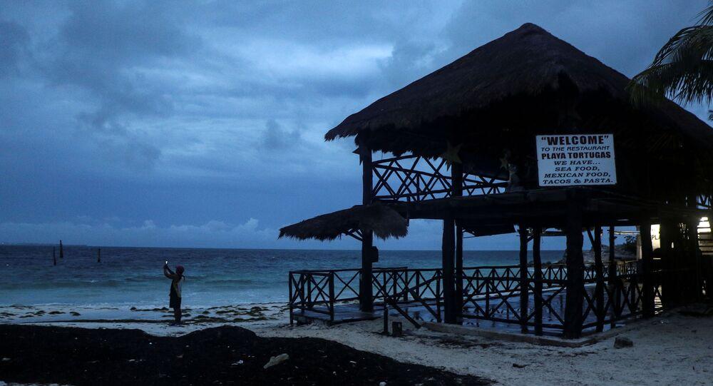 El huracán Delta en el Caribe mexicano