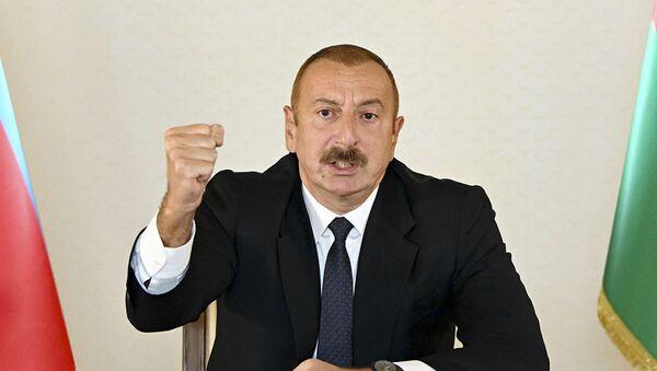 El presidente de Azerbaián, Ilham Aliyev - Sputnik Mundo