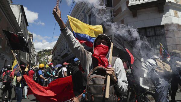Protestas en Ecuador (Archivo) - Sputnik Mundo