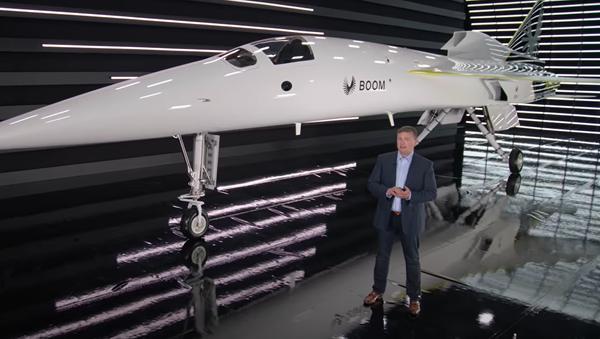 Un prototipo de la aeronave supersónica XB-1 presentado por Boom Supersonic - Sputnik Mundo