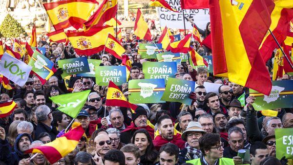 Protestas del partido ultraderechista Vox en Madrid (archivo) - Sputnik Mundo