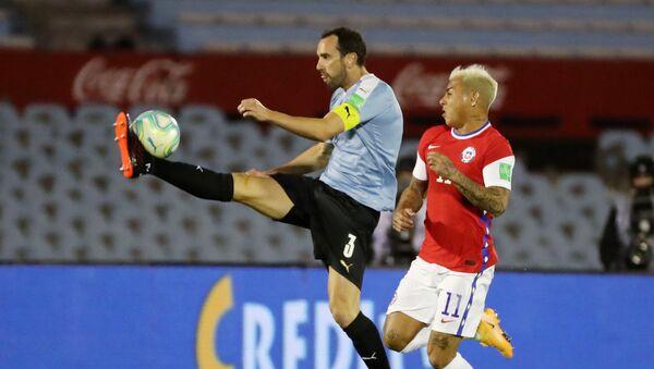 Torneo de Clasificatorias al mundial de Qatar 2022, partido de fútbol Uruguay vs Chile - Sputnik Mundo