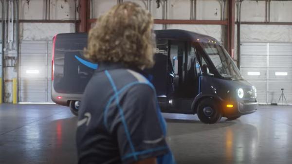 Una furgoneta Rivian de Amazon - Sputnik Mundo
