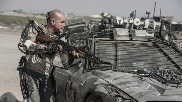 Matt Damon en a película 'Elysium' - Sputnik Mundo