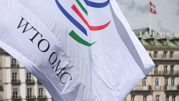 La bandera de la Organización Mundial del Comercio (OMC) - Sputnik Mundo