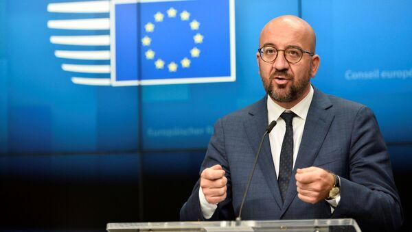 El presidente del Consejo Europeo, Charles Michel - Sputnik Mundo