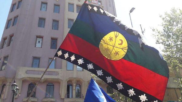 Marcha por la lucha mapuche y el 12 de octubre en Chile - Sputnik Mundo