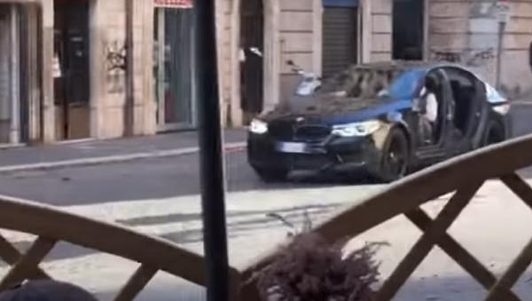 Un BMW M5 en el rodaje de 'Misión imposible: Repercusión' - Sputnik Mundo