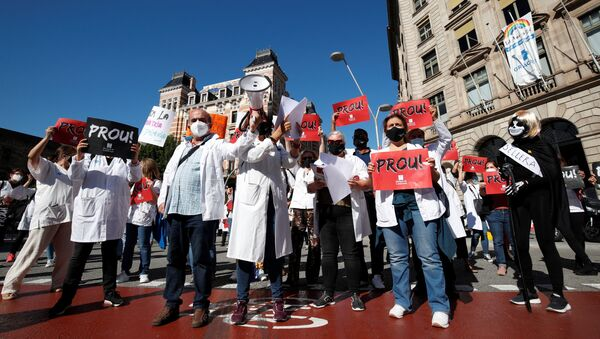 Huelga de los médicos de atención primaria de Cataluña  - Sputnik Mundo