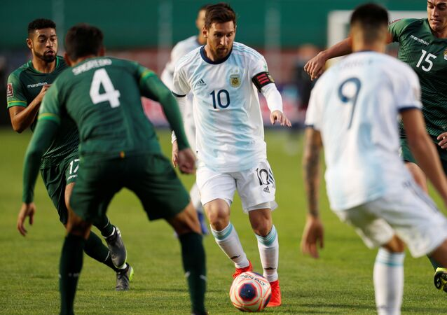 Lionel Messi, futbolista argentino durante el partido Bolivia-Argentina