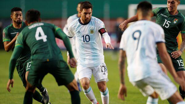 Lionel Messi, futbolista argentino durante el partido Bolivia-Argentina - Sputnik Mundo