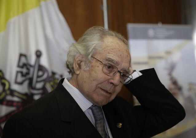 El activista y Premio Nobel de la Paz argentino Adolfo Pérez Esquivel