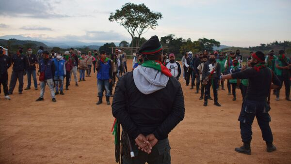 La minga (protesta) indígena en Colombia - Sputnik Mundo