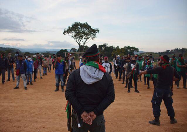 La minga (protesta) indígena en Colombia