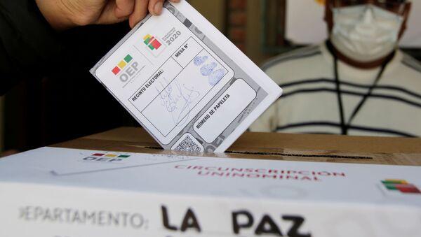 Simulación de votación en un colegio electoral en La Paz - Sputnik Mundo