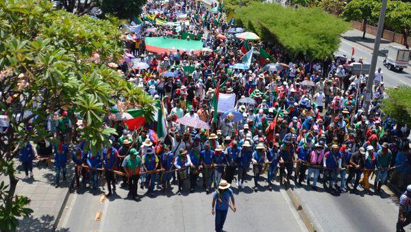 La minga, protesta indígena en Colombia  - Sputnik Mundo