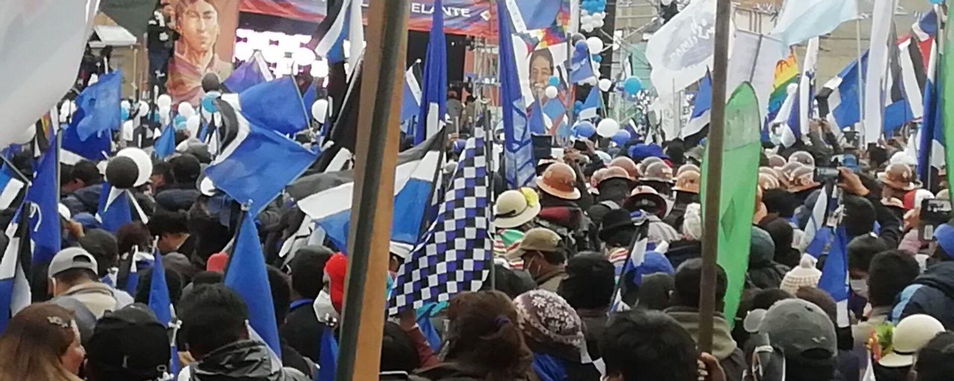 Acto de cierre de campaña del MAS en El Alto, Bolivia - Sputnik Mundo, 1920, 04.05.2021