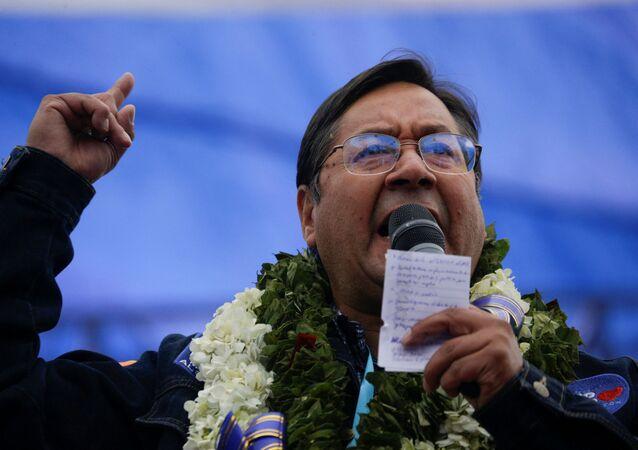 Luis Arce, en acto de cierre de campaña