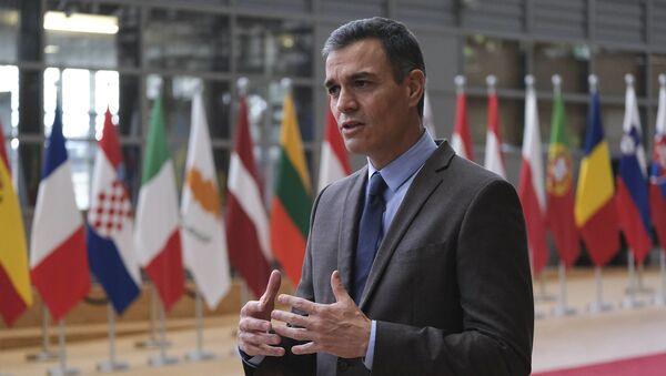 El presidente del Gobierno, Pedro Sánchez, asiste al Consejo Europeo - Sputnik Mundo