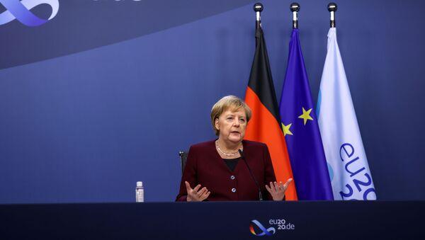 Angela Merkel, canciller federal alemana - Sputnik Mundo