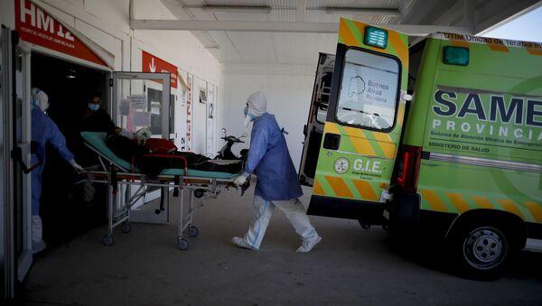 Un paciente con COVID-19, Argentina  - Sputnik Mundo