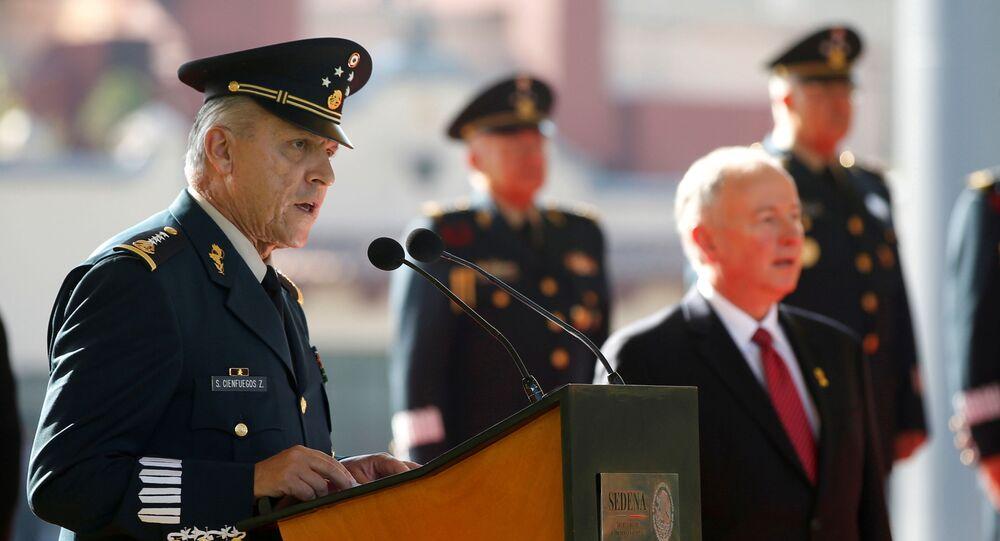 General Salvador Cienfuegos, el exsecretario de la Defensa Nacional de México